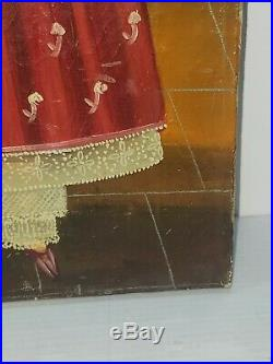 Vintage Mexican Folk Art by Agapito Labios 1898-1996 listed Oil artist signed