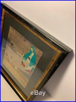 Vintage Mexican Tin Retablo Virgin Folk Art Painting 1980