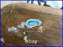 Vintage Norwegian ROSEMALING Wood Dough Bowl FOLK ART Norway Hand Painted 15x8.5