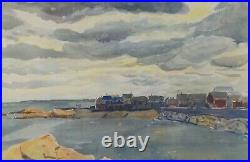 Vintage Original Watercolor Cohasset Spring'49 by Jeffries Wyman Listed