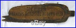 Vintage Painted Figural Wooden Corn Folk Art Sign Roadside Stand Americana