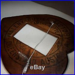 Vintage Tramp Art Chip Notch Wood Handmade Heart Picture Frame folk primitive