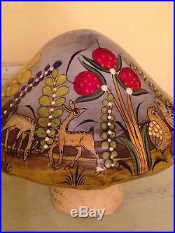 Vtg Mexican Folk Art Sergio Bustamante Paper Mache Painted Painting Sculpture