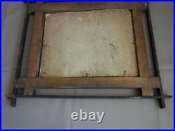 Vtg Old Antique Folk Tramp Art Wooden Carved Wall Picture Photograph Frame