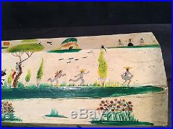 Vtg Signed SALVADOR CORONA Box folk art painting listed Mexican-American Matador
