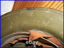 Vtg. WW1 American Doughboy Army Helmet, Folk Art Painted & Stamped ZC 254/Solid