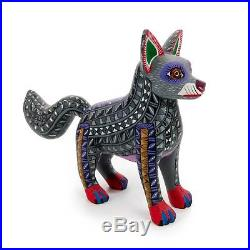 WOLF Oaxacan Alebrije Wood Carving Mexican Folk Art Animal Sculpture Painting