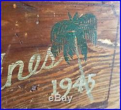 WW2 1945 Folk Art Trench Art Painted Foot Locker