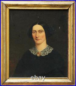 William Kennedy American folk art circa 1850 great oil painting