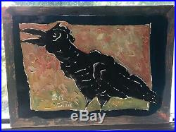 Willie Willie Crow On Painted Metal New Orleans Louisiana Southern Folk Art
