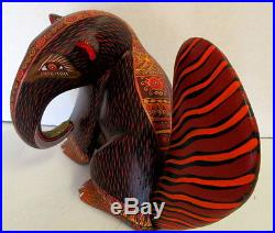 Zeny Fuentes Carved Painted Anteater Folk Art, Oaxacan Wood